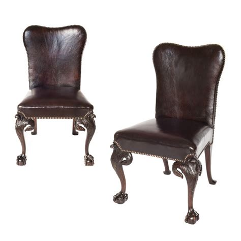 style chairs ireland pair of george ii style mahogany chairs c