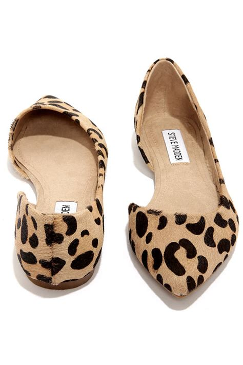Steve Madden D Orsay by Leopard Flats Pony Fur Flats D Orsay Flats 79 00