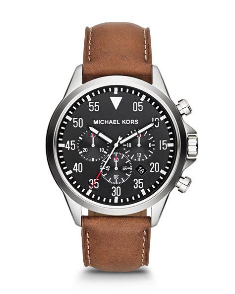 Michael kors Men's Oversize Brown Chronograph Watch in