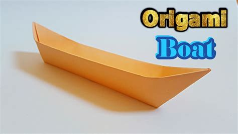 origami canoe boat how to make an origami boat long canoe