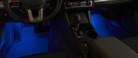 lights at legacy 2017 subaru outback footwell illumination kit casts a soft