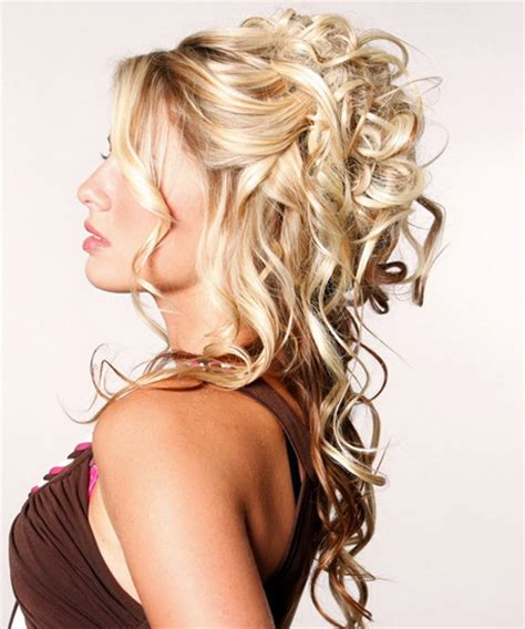 hairstyles half up half down how to prom hairstyles for long hair half up half down
