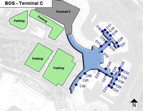 terminal b logan map boston logan airport bos terminal c map