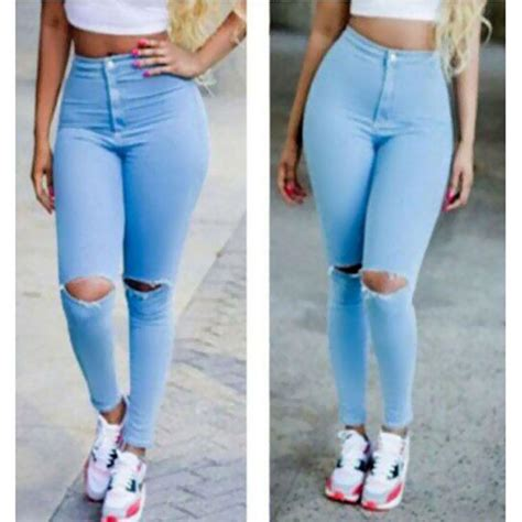 skinny jeans in or oyt in 2015 2017 2015 high waist jeans women skinny pencil pants denim