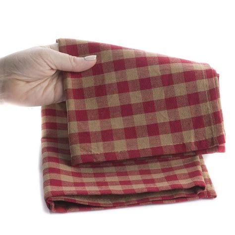 natural and black gingham plaid dish towel kitchen natural and red gingham check dish towel kitchen towels