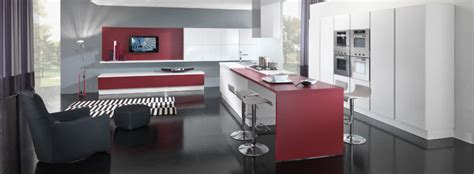 New Modern Kitchen Design by New Modern Kitchen Design With Red And White Cabinets