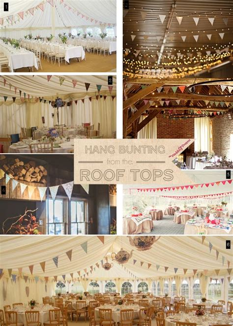 Wedding Bunting Decorations by Ideas For Using Wedding Bunting The Wedding Of Dreams