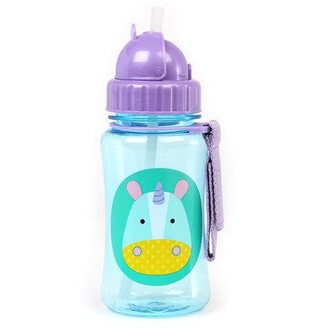 Skiphop Vapur Water Bottle skip hop zoo straw bottle unicorn akiddo