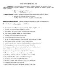 appositives worksheet worksheet amp workbook site