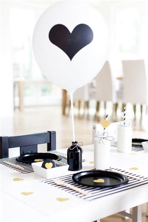 black and white table setting 26 timeless black and white party ideas shelterness