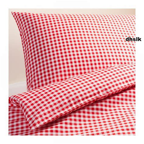 ikea red and white bedding ikea margareta duvet cover pillowcases set white checked gingham