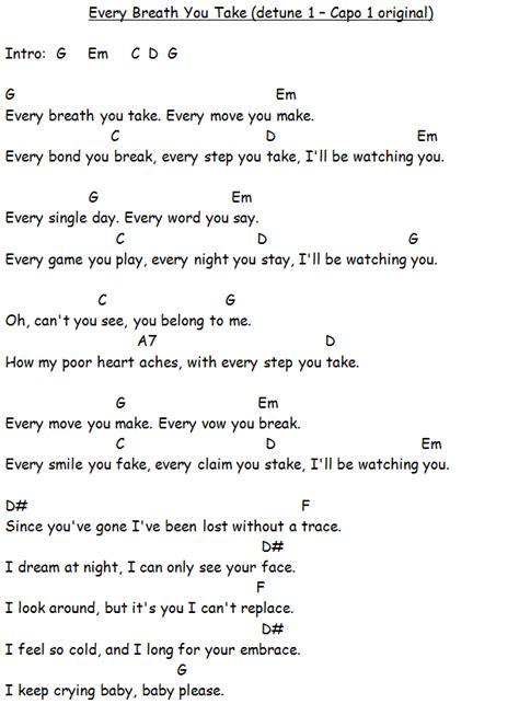 Every Breath You Take Guitar Chords