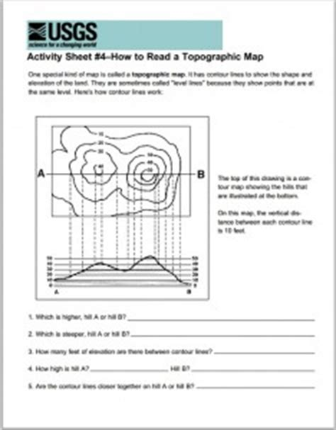 Earth Science Topographic Map Worksheet by Earth Space Science Topographic Maps Homeschool Den