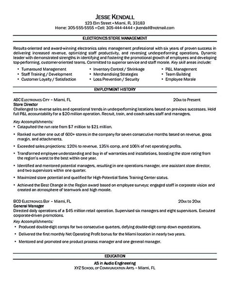 Store Manager Resume by Store Manager Resume Should Be Written Clearly And
