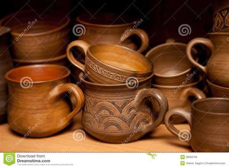 Handmade Crockery - crockery handmade from clay royalty free stock images