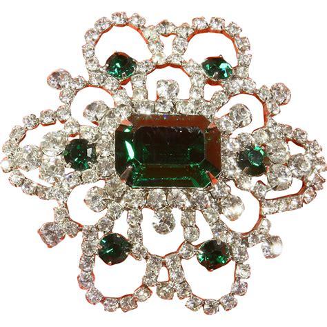 Rhinestone Snowflake Brooch weiss snowflake emerald green rhinestone brooch pin from