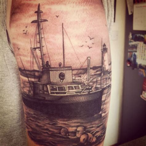 jaws tattoo jaws orca ship boats