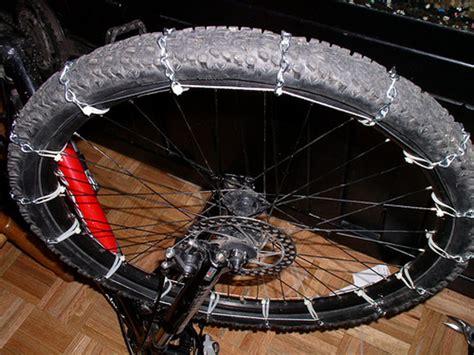 cadenas de nieve alternativas diy bicycle tire chains make