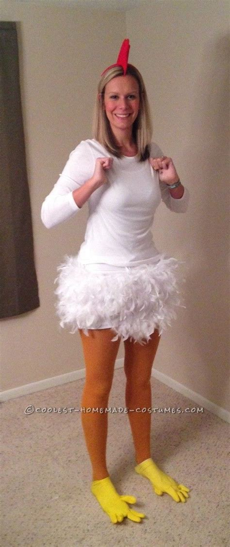Easy Handmade Costumes - chicken costume for a 6 foot chicken