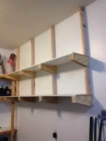 Extravagant garage shelves mahogany wood design ideas