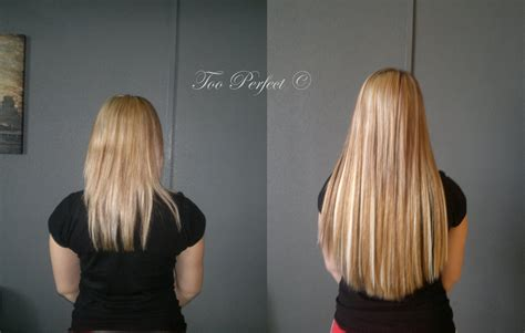 14 inch hair extensions before and after wearing micro ring micro loop hair extensions rachael