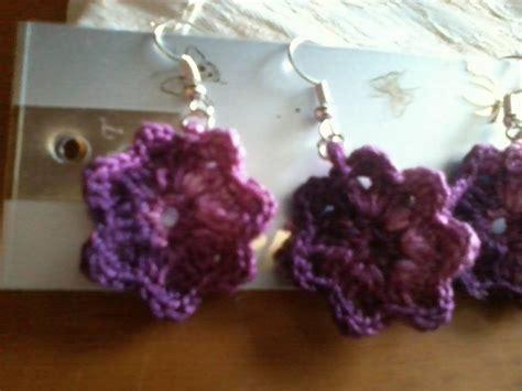 orecchini uncinetto fiore tutorial orecchini fiore