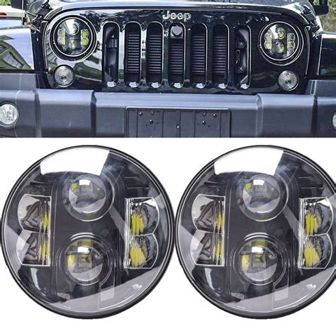 Jeep Jk Headlights 7 Quot Jeep Wrangler Jk Led Headlight Daymaker Replacement Led