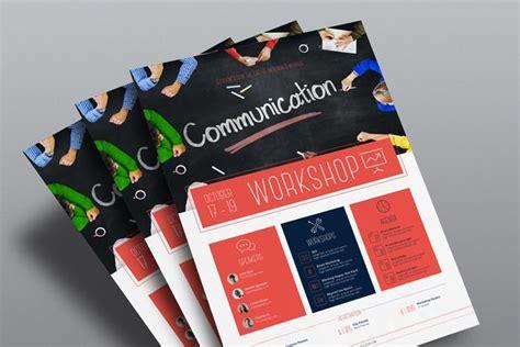 templates for workshop flyers corporate flyer template workshop stockindesign