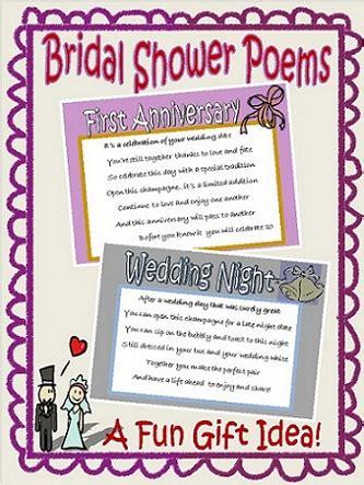printable bridal shower poems bridal shower poems