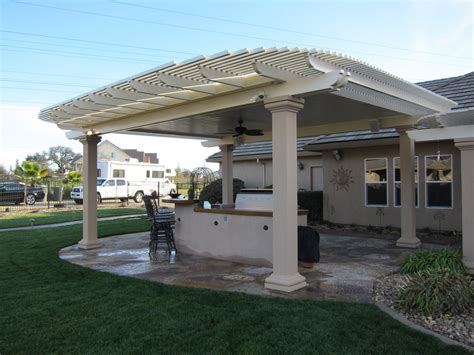 Combination Style Solid And Lattice Patio Covers