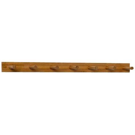 wooden peg rack seven peg in wall coat racks