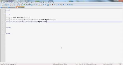 tutorial html marquee html scrolling marquee text tutorial youtube