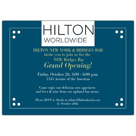 Grand Opening Card Template by Dotted Corner Logo Blue Grand Opening Invitations Paperstyle