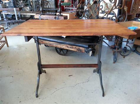 Drafting Table Legs Vintage Drafting Table With Cast Iron Legs