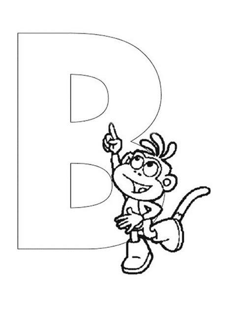 dora alphabet coloring pages dora the explorer alphabet boots pointing at letter b