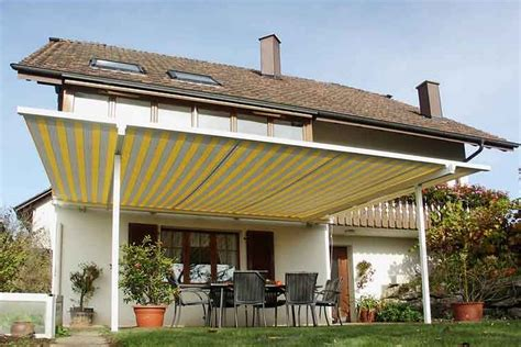 Roll Up Awnings For Decks Choosing A Retractable Canopy Track Single Multi Cable