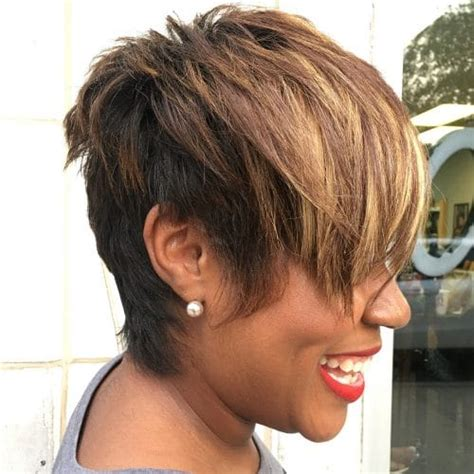 short haircuts edgy razor cut 24 african american hairstyles to get you noticed in 2018