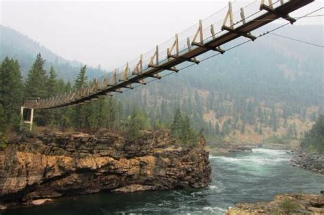 kootenai falls swinging bridge kootenai falls picture of kootenai falls swinging bridge