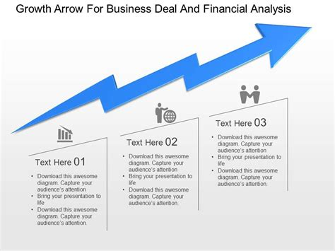 powerpoint templates financial presentation awesome corporate presentation showing growth arrow for