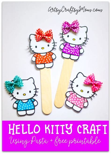 printable bookmarks hello kitty super cute hello kitty craft bookmark using pasta free