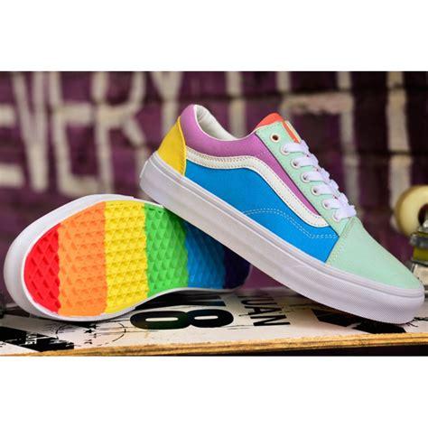 colorful vans lovely vans rainbow colorful skool skateboards