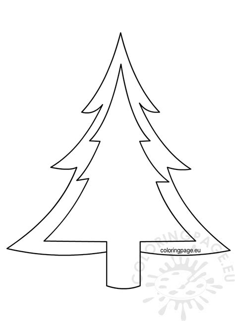 christmas tree pattern to color christmas tree outline pattern coloring page