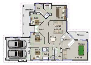 2 Bedroom House Plans Qld Design 180rh 4 Bedroom House Plans Ideal For Builders Kit