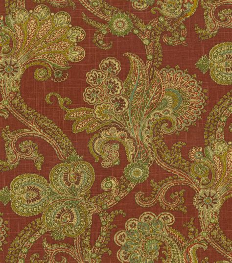 home decor fabric waverly world charm treasure ruby