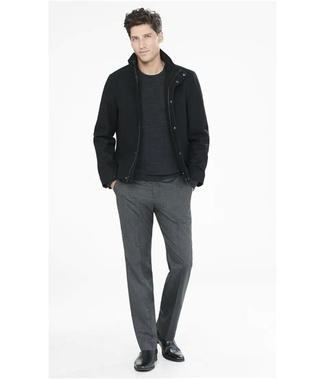 Wool Blend Jacket by Lyst Express Wool Blend Jacket In Black For