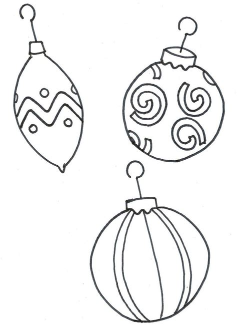 Christmas Tree Ornament Coloring Pages Coloring Home Tree Coloring Page With Ornaments