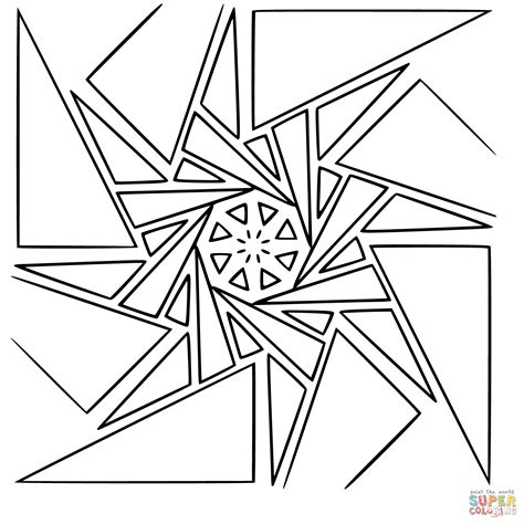 geometric mandala coloring page free printable coloring