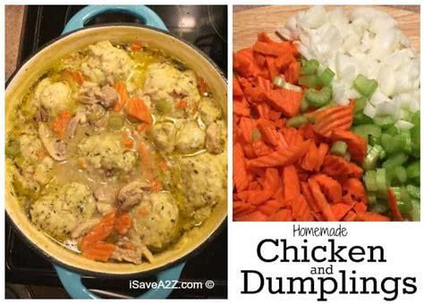 homemade chicken  dumplings  scratch isaveazcom