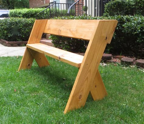 how to make a simple wooden bench diy tutorial 16 simple outdoor wood bench the project