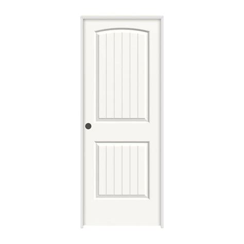 calhome 30 in x 80 in white primed mdf raised 2 panel calhome top mount sliding door track hardware and white